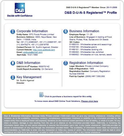 D&B D-U-N-S Registered